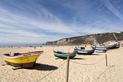 Fishing boats of Nazare Royalty Free Stock Photos