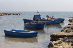 Fishing boats. Near Brindsi, South Italy Royalty Free Stock Images