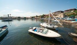 Fishing boats in Nessebar, Bulgaria Stock Image
