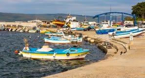 Fishing boats on the Nessebar, Bulgaria Stock Photo