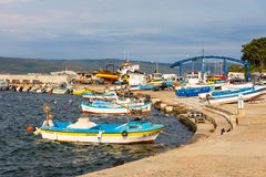 Fishing boats on the Nessebar in Bulgaria Royalty Free Stock Image