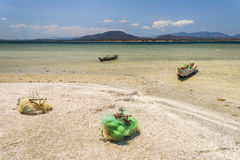 Fishing boats and net Royalty Free Stock Photo