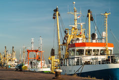Fishing boats in The Netherlands Stock Photo