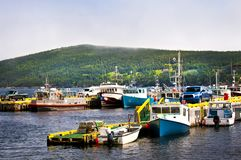 Fishing boats in Newfoundland Stock Images