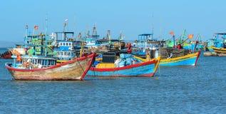 Fishing boats in Nha Trang, Vietnam Stock Photo
