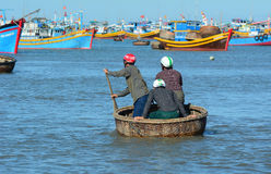 Fishing boats in Nha Trang, Vietnam Royalty Free Stock Photo