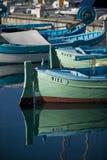 Fishing boats at Nice/France. Detail shot from wooden fishing boats at harbor of Nice, France Royalty Free Stock Photos