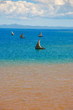 Fishing boats of nosy be Royalty Free Stock Photography