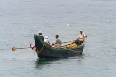 Fishing boats in the ocean Royalty Free Stock Images