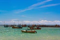Fishing boats in the ocean. Sri Lanka. Stock Image