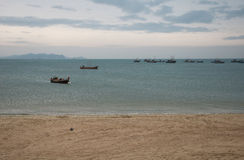 Fishing boats in ocean Royalty Free Stock Photos