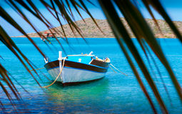 Fishing Boats off the coast of Crete, Greece Stock Image