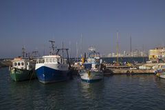 Fishing Boats in old Jaffa Port .Israel Royalty Free Stock Photos