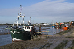 Fishing Boats at Old Leigh, Essex, England Stock Photo