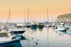 Fishing boats in the old port of Jaffa, Tel Aviv Stock Image