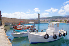 Fishing boats in old port in Rethymno Royalty Free Stock Photography