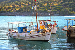 Fishing boats. Old, traditional Fishing boats in a greek island Stock Photography