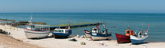 Fishing Boats On Beach Stock Images