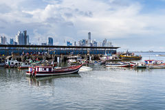 Fishing boats in Panama City Stock Images