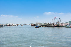Fishing boats parking at Yangjiang Harbor of China. A lot of fishing boats parking at Yangjiang Harbor of China royalty free stock photo