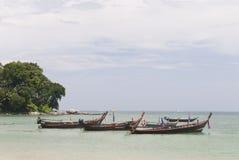 Fishing boats, Patong beach Royalty Free Stock Photography