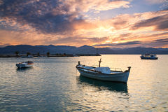 Fishing boats, Peloponnese, Greece. Stock Photography