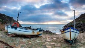 Fishing Boats at Penberth Cove Royalty Free Stock Image