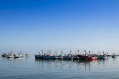 Fishing boats in Peru Stock Image