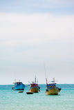 Fishing Boats in Phu Quoc in Vietnam Stock Photos