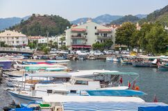 Boats in Marmaris Royalty Free Stock Images