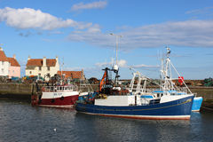 Fishing boats Pittenweem harbour, Fife, Scotland Royalty Free Stock Images