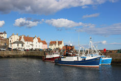 Fishing boats Pittenweem harbour, Fife, Scotland Stock Images