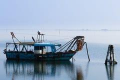 Fishing boats from Po river lagoon, Italy Royalty Free Stock Photo