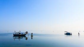 Fishing boats from Po river lagoon, Italy Stock Photography