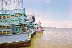 Fishing boats in the port.  royalty free stock photo