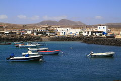 Fishing boats in port, Fuerteventura Royalty Free Stock Photo