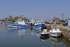 Fishing boats in the port of Honfleur in France Royalty Free Stock Photo