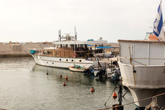 Fishing boats in the port of Jaffa Royalty Free Stock Photo