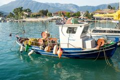 Fishing boats in port of Kefalonia-Greece Stock Image