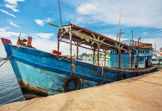 Fishing boats in port Stock Image