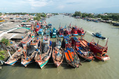 Fishing boats in a port. In Thailand Royalty Free Stock Images