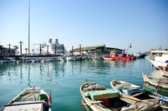 Fishing boats at a port in Turkey Stock Photography