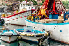 Fishing boats in Port Vendres, Southern France Royalty Free Stock Photography