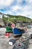 Fishing Boats at Portloe Royalty Free Stock Image