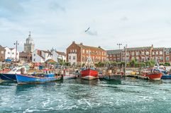 Fishing boats in Portsmouth Royalty Free Stock Images