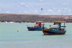 Fishing Boats. In Praia San Miguel Stock Photography