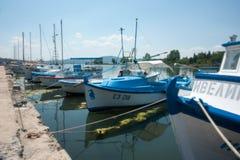 Fishing boats in Primorsko, Bulgaria Stock Image