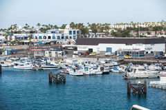 Fishing boats in Puerto del Carmen Stock Photography