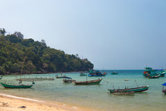 Fishing boats Quoc, Vietnam Royalty Free Stock Images