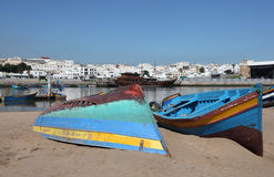 Fishing boats in Rabat, Morocco Royalty Free Stock Photo